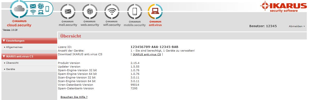 IKARUS anti.virus Admin Console