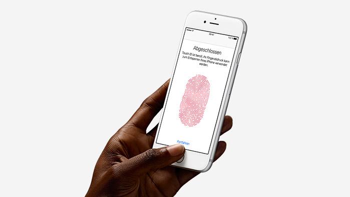 Touch ID - Fortschrittliche Sicherheit beginnt mit deinem Fingerabdruck.
