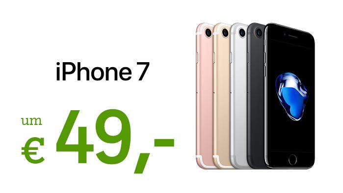 iPhone 7 in allen Farbvarianten ab 49,-