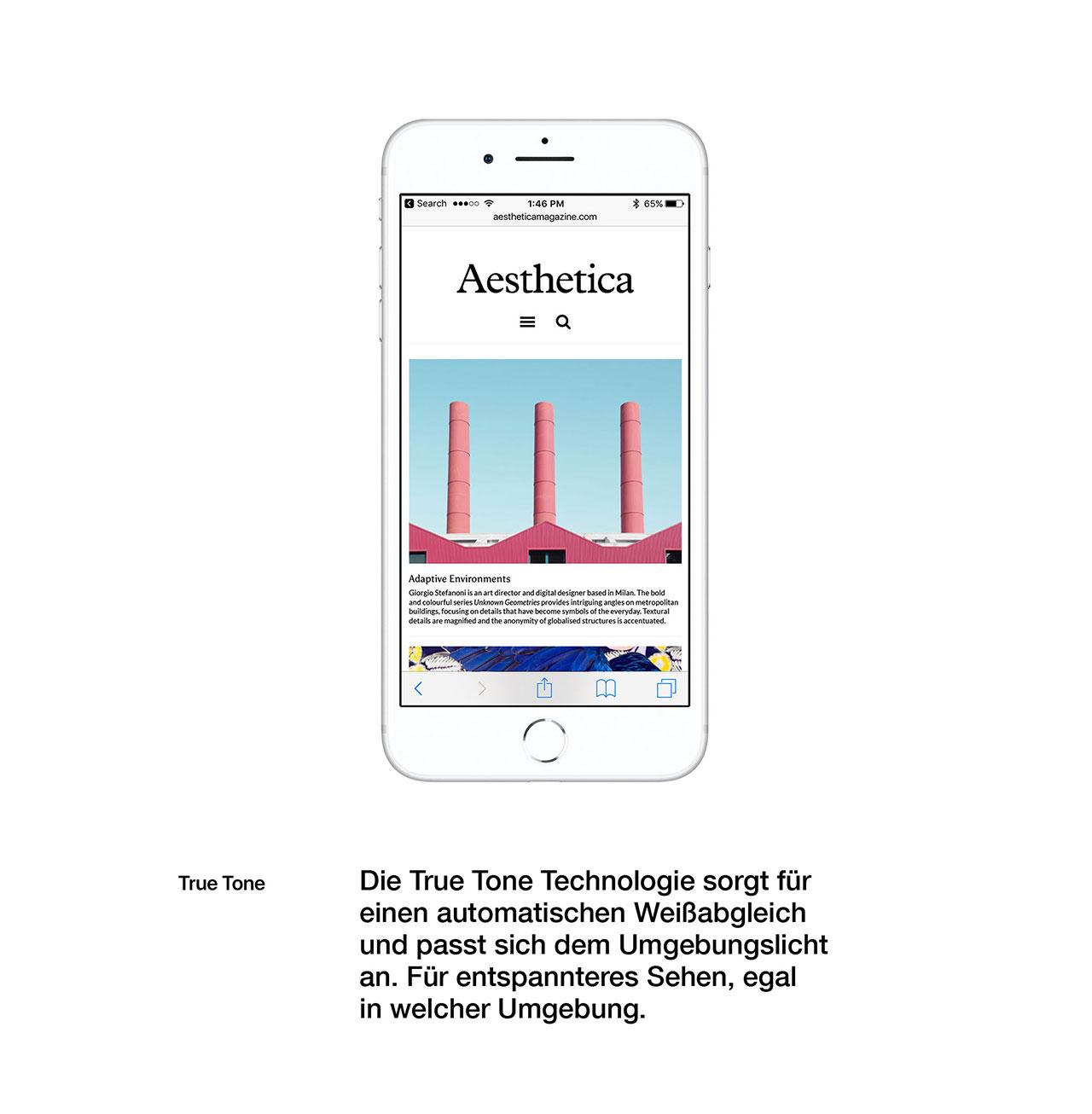 Automatischer Weißabgleich durch True Tone Technologie