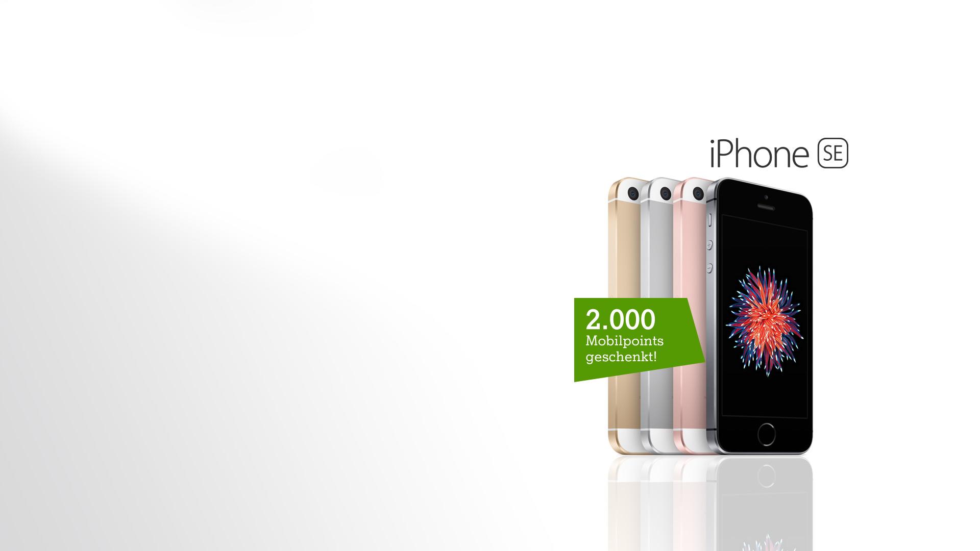 iPhone SE Front- und Rückansicht