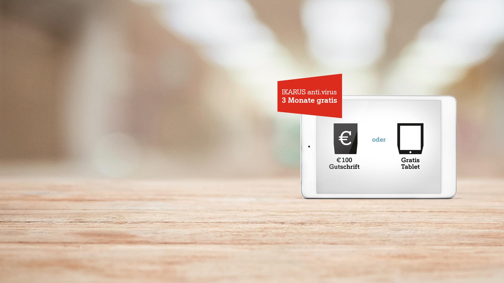 Minus 10 Euro + 100 Eur Gutschrift oder Gratis Tablet bei Bus Festnetz Internet Neubestellung