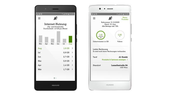 Mein A1 App für Festnetz-Internet Kunden