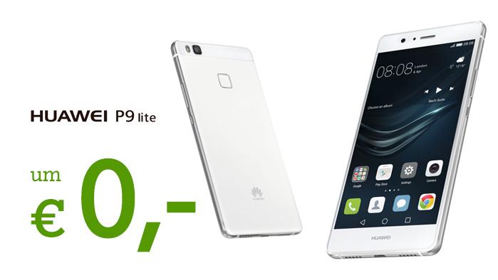 Huawei P9 Lite Vorder- und Rückansicht