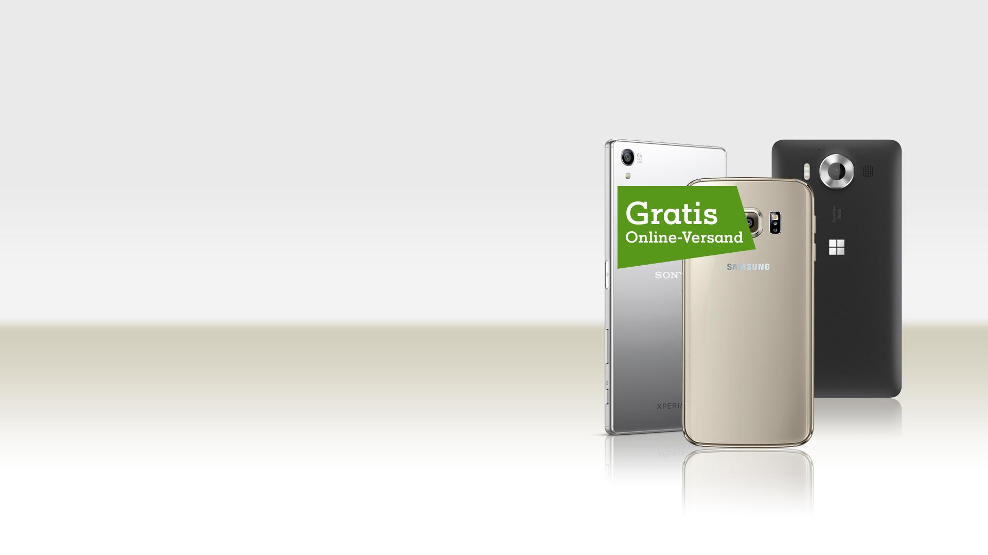 Auswahl Smartphones mit Störer Gratis Online-Versand